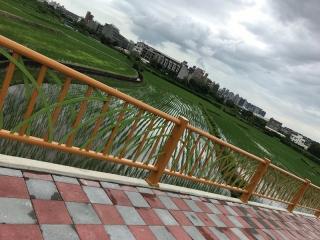 ↑造形欄杆融合田園景觀