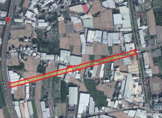 ↑大里區草湖地區聯外道路(含AI-005延伸)新闢工程位置圖