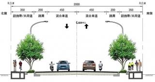 ↑道路橫斷面配置圖