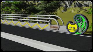 圖4:橋名柱模擬圖