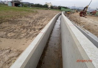 ↑現況施作照片-新設灌溉溝