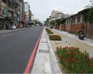 新竹市學府路通學步道改善情形照片