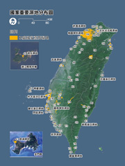 Map of Taiwan Importance Wetland